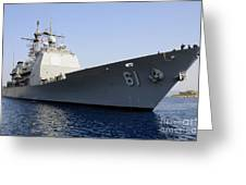 Uss Monterey Arrives Greeting Card