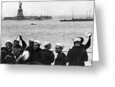 Uss Pennsylvania Sailors Cheer Greeting Card