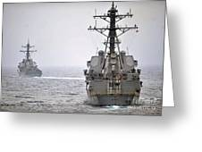 Uss Porter And Uss Nitze Participate Greeting Card