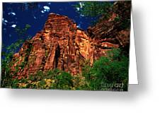 Utah - Zion National Park - Angels Landing Greeting Card