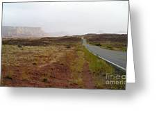 Utah Canyon Road Greeting Card