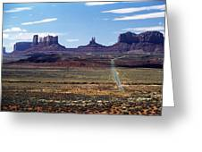 Utah, Usa Highway And Rock Formations Greeting Card