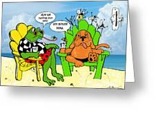 Vacation Blues Greeting Card