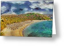 Vai Beach II Greeting Card