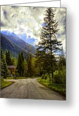 Vail Country Road 1 Greeting Card