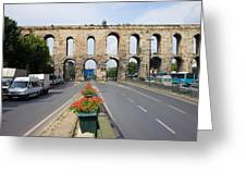 Valens Aqueduct In Istanbul Greeting Card by Artur Bogacki