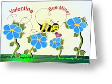 Valentine Bee Mine Greeting Card