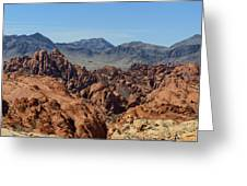 Valley Of Fire 2 Of 4 Greeting Card