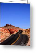 Valley Of Fire Road And Sky Nevada Greeting Card