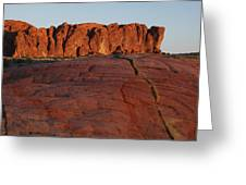 Valley Of Fire Rockscape Greeting Card