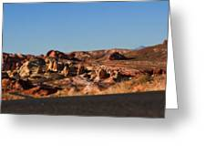 Valley Of Fire Winding Road Greeting Card
