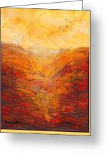 Valley Of Hope Greeting Card