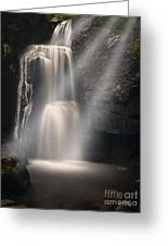 Valley Waterfall Lost Love Greeting Card