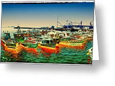 Valparaiso Boats Greeting Card