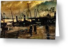 Van Gogh Le Quai Huile Sur Toile 1885  Greeting Card