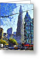 Van Gogh Sips Absinthe And Takes In The Views From North Beach In San Francisco . 7d7431 Greeting Card