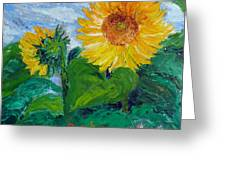 Van Gogh Sunflowers Greeting Card