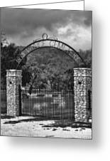 Vance Cemetery Black And White Greeting Card