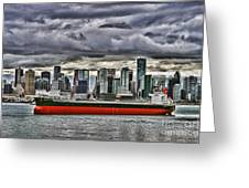 Vancouver Freighter Hdr Greeting Card