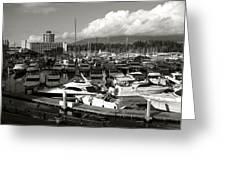 Vancouver Marina Greeting Card by Kamil Swiatek