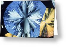 Vanillin Crystals Greeting Card