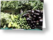 Variety Of Fresh Vegetables - 5d17828 Greeting Card