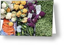 Variety Of Fresh Vegetables - 5d17900 Greeting Card