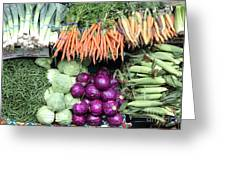 Variety Of Fresh Vegetables - 5d17910 Greeting Card