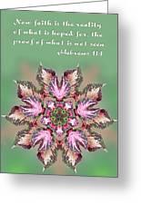 Varigated Foliage Star Heb. 11v1 Greeting Card