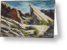 Vasquez Pass Greeting Card by Rich Arons