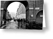 Vatican City Wall Rainy Greeting Card