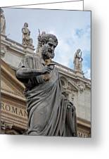 Vatican Statue Greeting Card