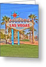 Vegas Greeting Card