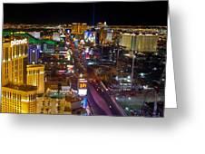 Vegas Strip At Night Greeting Card