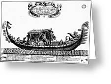 Venetian Gondola, C1689 Greeting Card by Granger