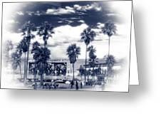 Venice Beach Haze Greeting Card by John Rizzuto
