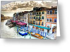 Venice Canal Taxi Greeting Card