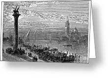 Venice: Grand Canal, 1875 Greeting Card