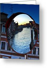 Venice Grand Canal Mirrored Greeting Card