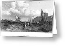 Venice: Lido, 1833 Greeting Card