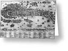 Venice: Map, C1566 Greeting Card