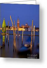 Venice Night Greeting Card