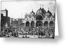 Venice: Saint Marks, 1797 Greeting Card