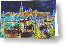 Venice Venezia Glow Greeting Card