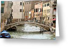 Venice Venezia Venetian Bridge Greeting Card by Italian Art