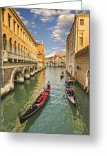 Venice View To The Grand Canal From The Calle Foscari Bridge Greeting Card