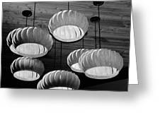 Vented Lights In Black And White Greeting Card