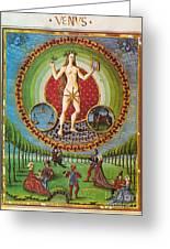 Venus Ruler Of Taurus And Libra Greeting Card