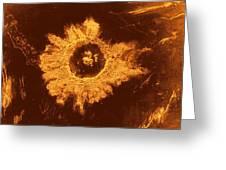 Venus, Synthetic Aperture Radar Map Greeting Card