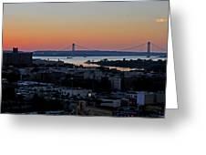 Verazano Sunset Greeting Card